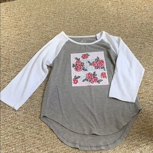 Girls 3/4 Sleeve Top
